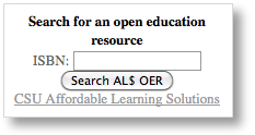 OER Search box example.